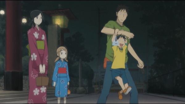 Image of Daikichi, Rin, Yukari, and Kouki at a festival