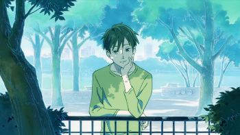 Image of Nino watching Schnee's family in the park