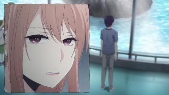 Image of Akane looking irritated with Kanai
